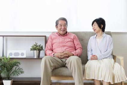 高齢者夫婦の画像